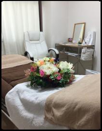 施術ベッド写真